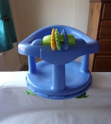 Safety 1st Pastal Blue Baby Swivel Bath Seat with Suction Cups Good Condition.