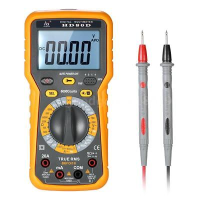 Multi-functional Digital Multimeter DMM LCD with Backlight 6000 Counts H5W8