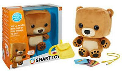 NEW Fisher Price Smart Toy ~Bear~ Talking Learning Interactive Plush Stuffed Toy