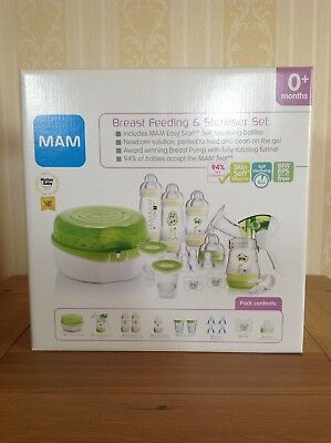 MAM Breast Feeding and Steriliser Set BNIB