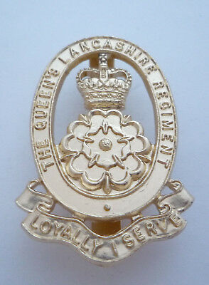 The Queens Lancashire Regiment Anodised / Staybright Cap Badge By Firmin