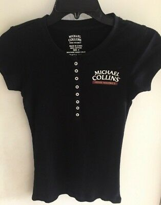 New! MICHAEL COLLINS Irish Whiskey Women's Tee-Cool Style-100% Cotton Ribbed