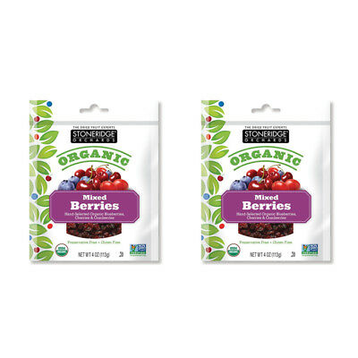 2X Stoneridge Orchards Organic Mixed Berries Dried Fruit Gluten Free Daily Care
