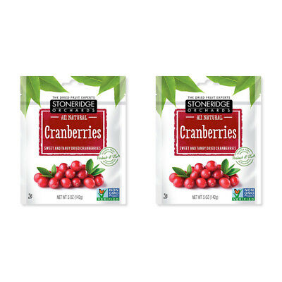2X Stoneridge Orchards Cranberries Sweet & Tangy Dried Fruit Gluten Free Daily