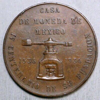 Commemorative Medal, IV Centenary of the Mexican Mint, Grove 490b, Scarce    -11