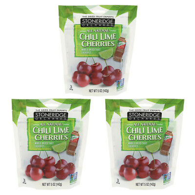 3X Stoneridge Orchards Chill Lime Cherries Whole Dried Fruit Gluten Free Daily