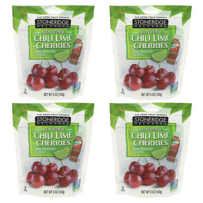 4X Stoneridge Orchards Chill Lime Cherries Whole Dried Fruit Gluten Free Daily