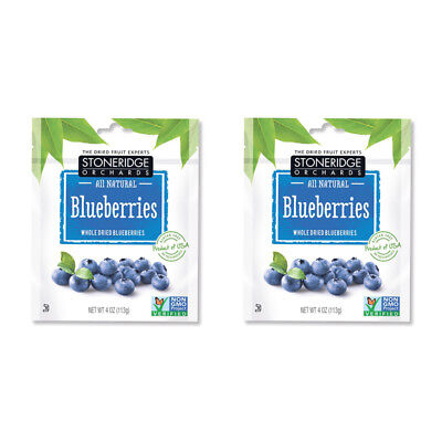 2X Stoneridge Orchards Blueberries Whole Dried Fruit Gluten Free Daily Natural