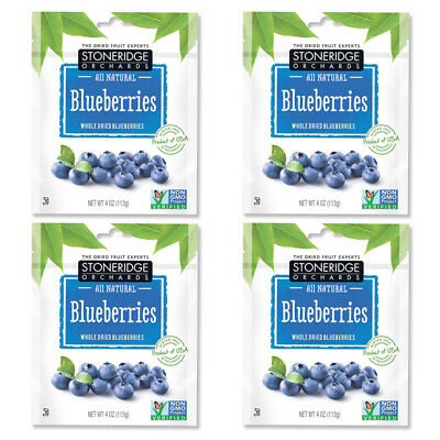4X Stoneridge Orchards Blueberries Whole Dried Fruit Gluten Free Daily Natural