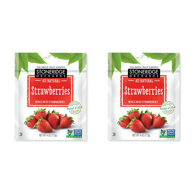 2X Stoneridge Orchards Strawberries Whole Dried Fruit Gluten Free All Natural