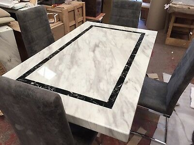 Ex Scs Alfrank Everest Marble Dining Table 4 Chairs