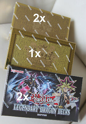 Legendary Decks 2 II + 2x Yugi's Legendary Decks 1 + 2 x Legendary Dragon Decks