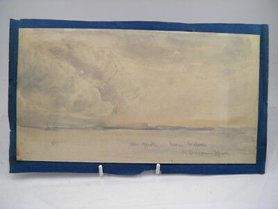 Antique 19th century English School watercolour painting marine seascape view