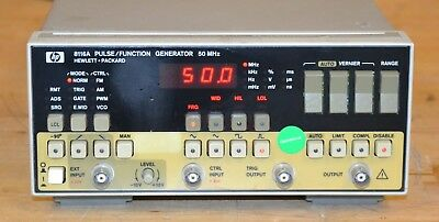 HP Agilent 8116A Pulse/Function Generator 1mhz-50MHz, 32VP-P, Tested GOOD
