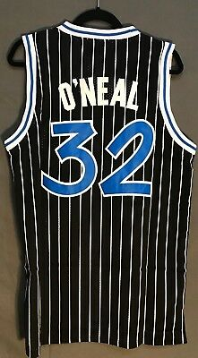 Shaquille O Neal 32 Vintage Orlando Magic Black Jersey Throwback Basketball  Men 8d5dd3f5a