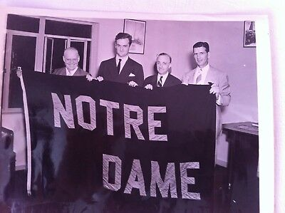 Vintage Photograph New York Worlds Fair Notre Dame Football USA Flag of the Day