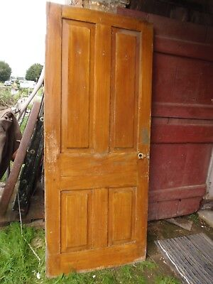 Victorian Raised Panel Door 79 1/2 x 33 1/4 Grain Painted