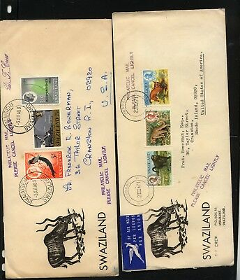 Swaziland  2  nice  cachet   covers          MS0715