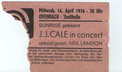 J.J. CALE 1976 Ticket 14.04.1976 Offenbach Stadthalle Ultra Rare