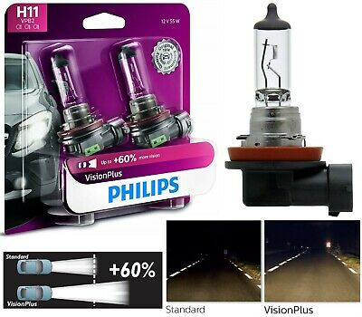 Philips VIsion Plus 60/% H7 55W One Bulb Head Light High Beam Replace Plug Play
