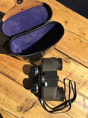 Chinon Countryman Binoculars With Case | 7 x 35 Extra Wide Angle Field 11 Degree