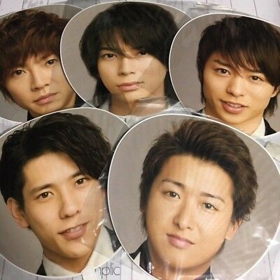 Arashi 嵐 100% Official Uchiwa Fan Complete Set 5x10 Anniversary TOUR 09 Johnny's