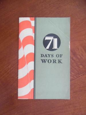 1933 71 DAYS OF WORK Chevrolet Brochure Great Depression Recovery Vintage RARE