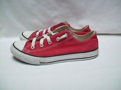 Converse All Star Red Canvas Tennis Shoes Youth Size 3
