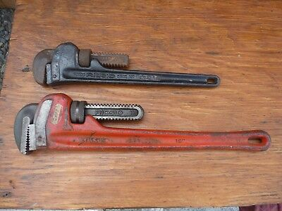 "2 - RIDGID Pipe Wrenches 18"" & 14"""