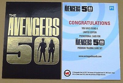 Avengers 50th Gold Foil Stamped P1 Promo Card Ltd Edition by Unstoppable Cards