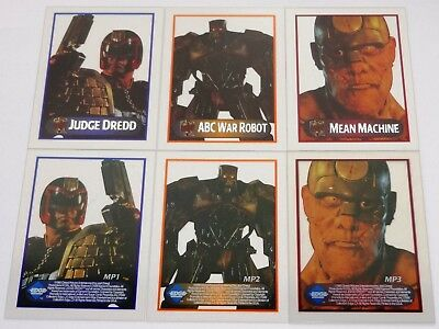 Judge Dredd (The Movie) 3-Card Acetate Chase Set by Edge Entertainment (1995)