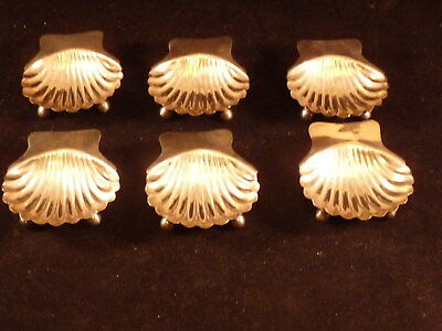 Vintage Sterling Silver Clam Shell Salt Cellars Set of 6