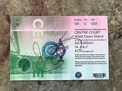 Wimbledon 2018 Singed Centre Court Women's Final Ticket - Angelique Kerber