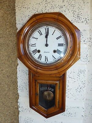 Antique Ansonia Drop Dial Wall Clock