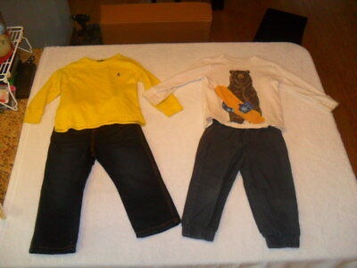 Lot-of-8-pieces-Baby-Toddler-boys-Clothes-long Sleeve-Sweat Shirts-Size-2T