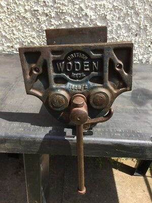 """Woden Woodworking vice No 189B/2  9"""" Wide Jaws Quick Release"""