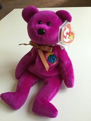 fb1b8b3942e Original Ty Millenium Beanie Baby bear mint condition rare collectable