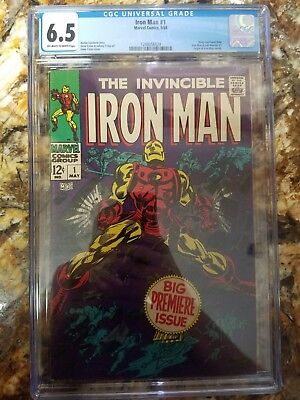 Invincible iron man #1 1968 cgc 6.5