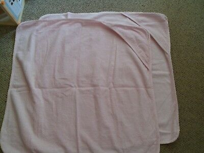 Two Pink Baby Towels