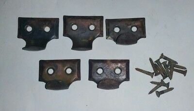Lot Of 5 Antique Window Sash Hook Lifts With Screws
