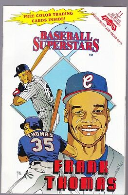 """""""frank Thomas"""" Hall Of Fame"""" (Unopened) Baseball Comic Book With Trading Cards"""