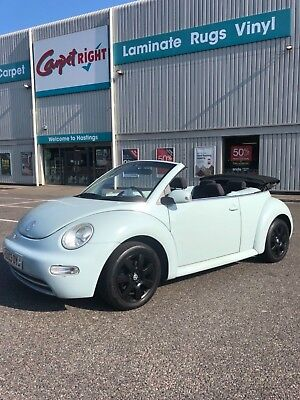 **2003 VW Beetle Convertible 2.0 In Duck Blue 11 Months Mot Only 69,500 Miles**
