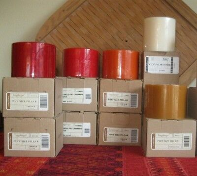 Eigth Scented Pillar Candles, by Longaberger-New In Boxes
