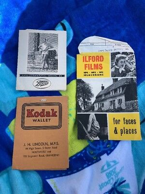 Vintage Developed Photograph Packets