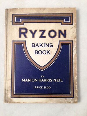 Ryzon Baking Book Vintage Hc Book Marion Harris Neil 1916 General Chemical Co