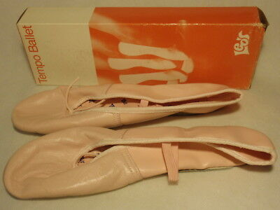 Leo's Ballet Pink Leather Ballerina Slipper Shoes Size 9M