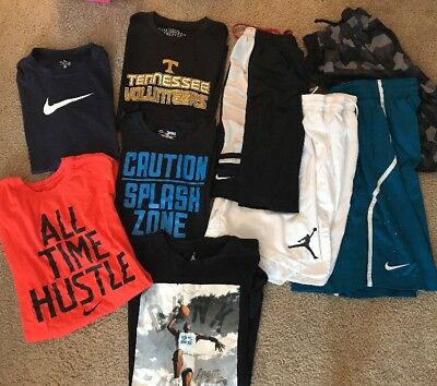 Lot 9 Boys Nike Jordan Under Armour Shorts T Shirt Size Yxl/mens S/m