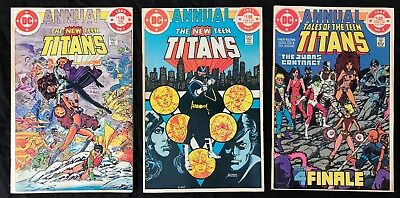 New Teen Titans Annual 1 & 2 / Tales of The Teen Titans Annual 3 - 3 book lot