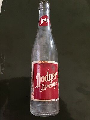 Vintage Pop Bottles Dodger Beverages Some Paint Coming Off Please Look At Photo