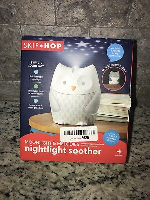 Skip Hop Moonlight & Melodies Nightlight Soother-Owl, Multi, New